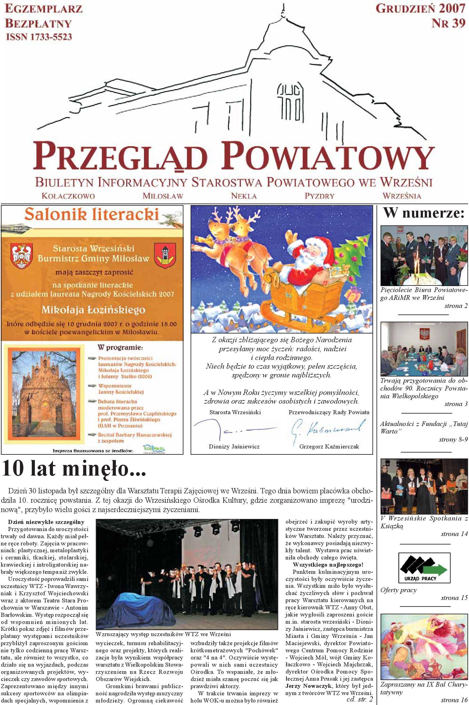 Przegląd Powiatowy Nr 39 Grudzień 2007 By Starostwo