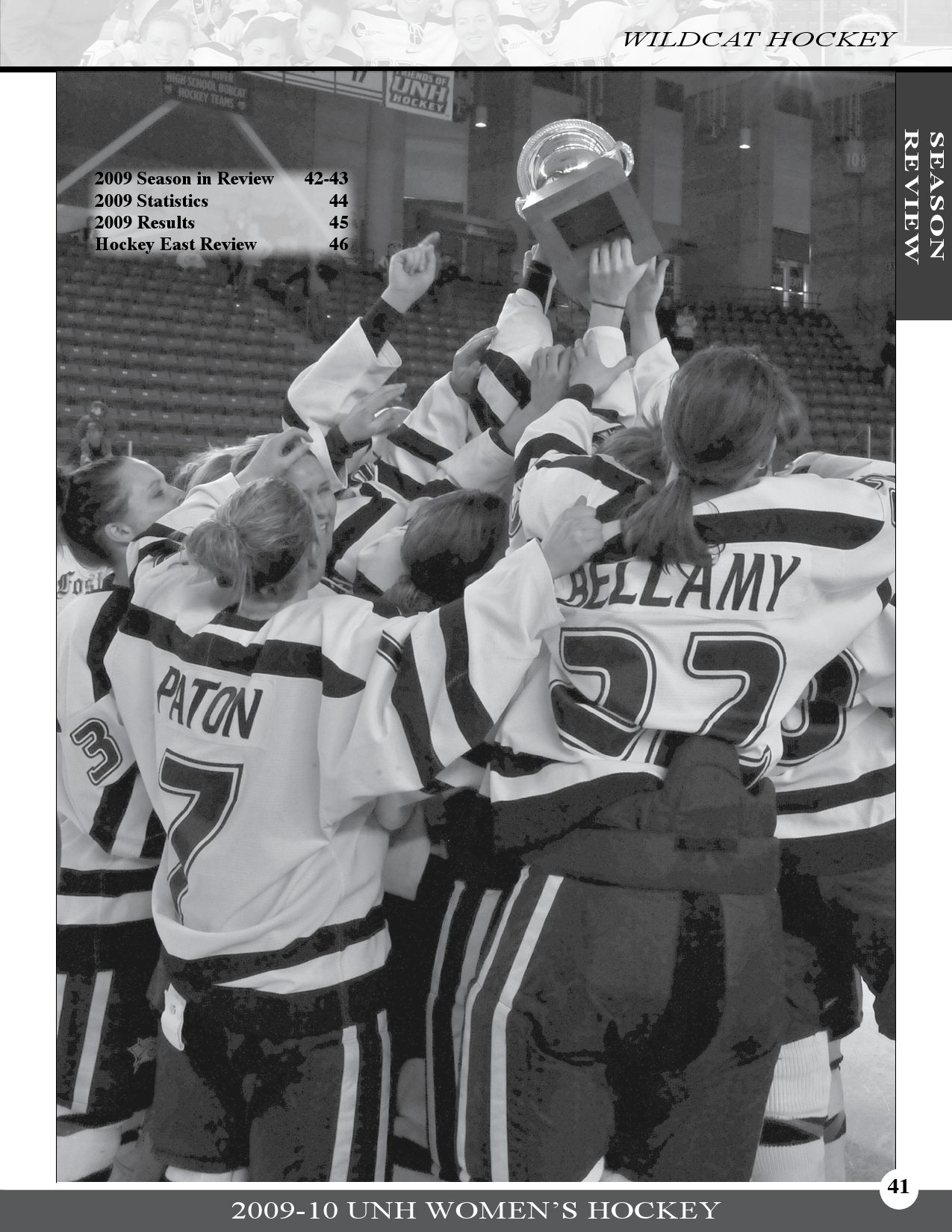 UNH Women's Ice Hockey 2009-10 Media Guide, Part 2 by ...