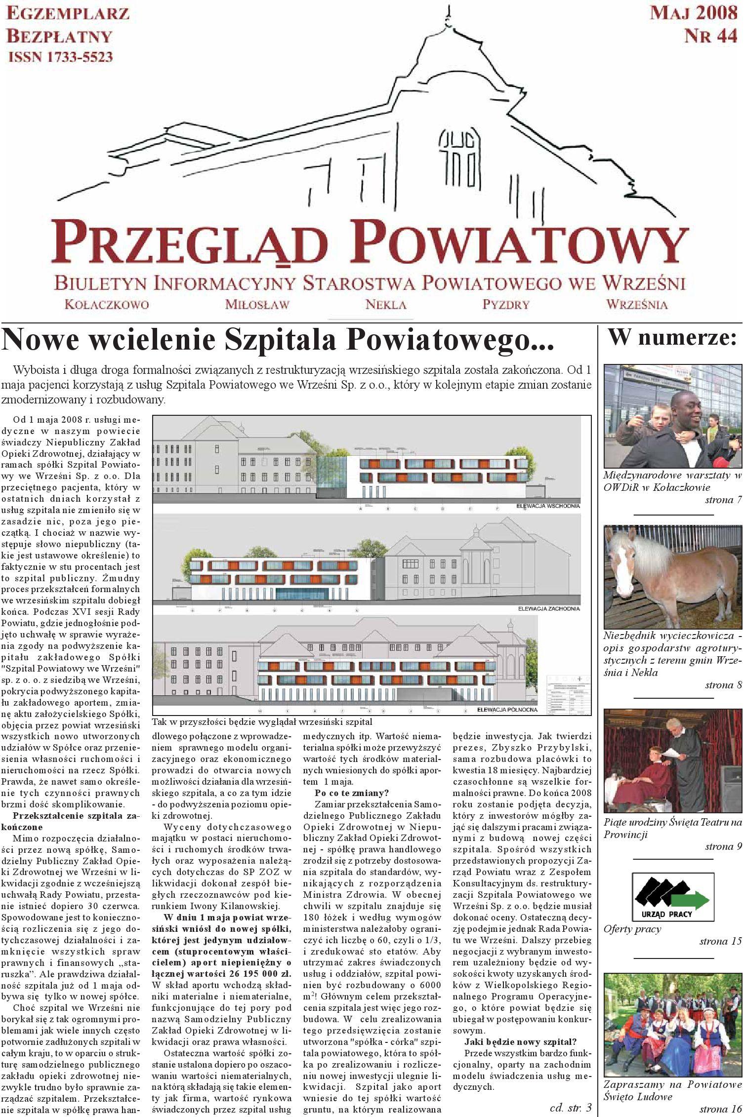 Przegląd Powiatowy Nr 44 Maj 2008 By Starostwo Powiatowe We