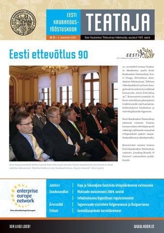 ae7769eacb7 Eesti Kaubandus-Tööstuskoja aastaraamat 2011 by Eesti Kaubandus ...