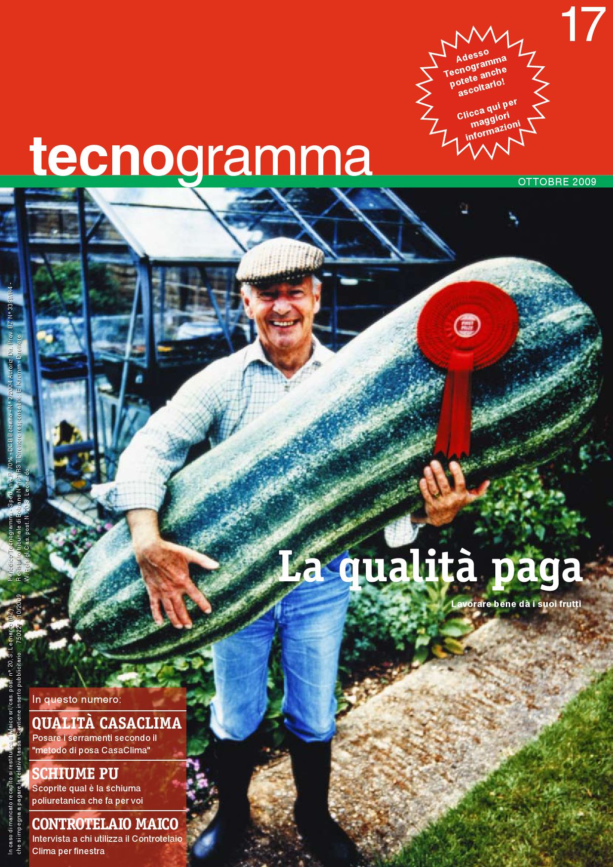 Tecnogramma 17 la qualit paga by maico italia issuu for Finestra qualita casaclima