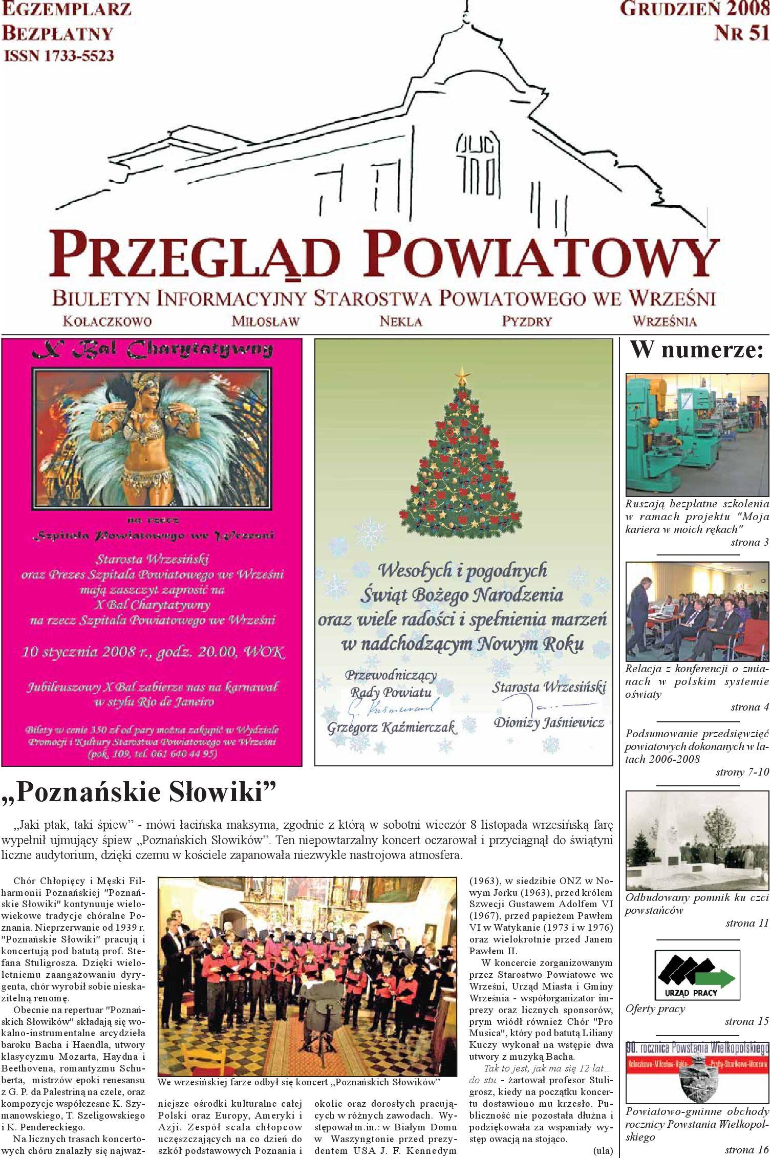 Przegląd Powiatowy Nr 51 Grudzień 2008 By Starostwo