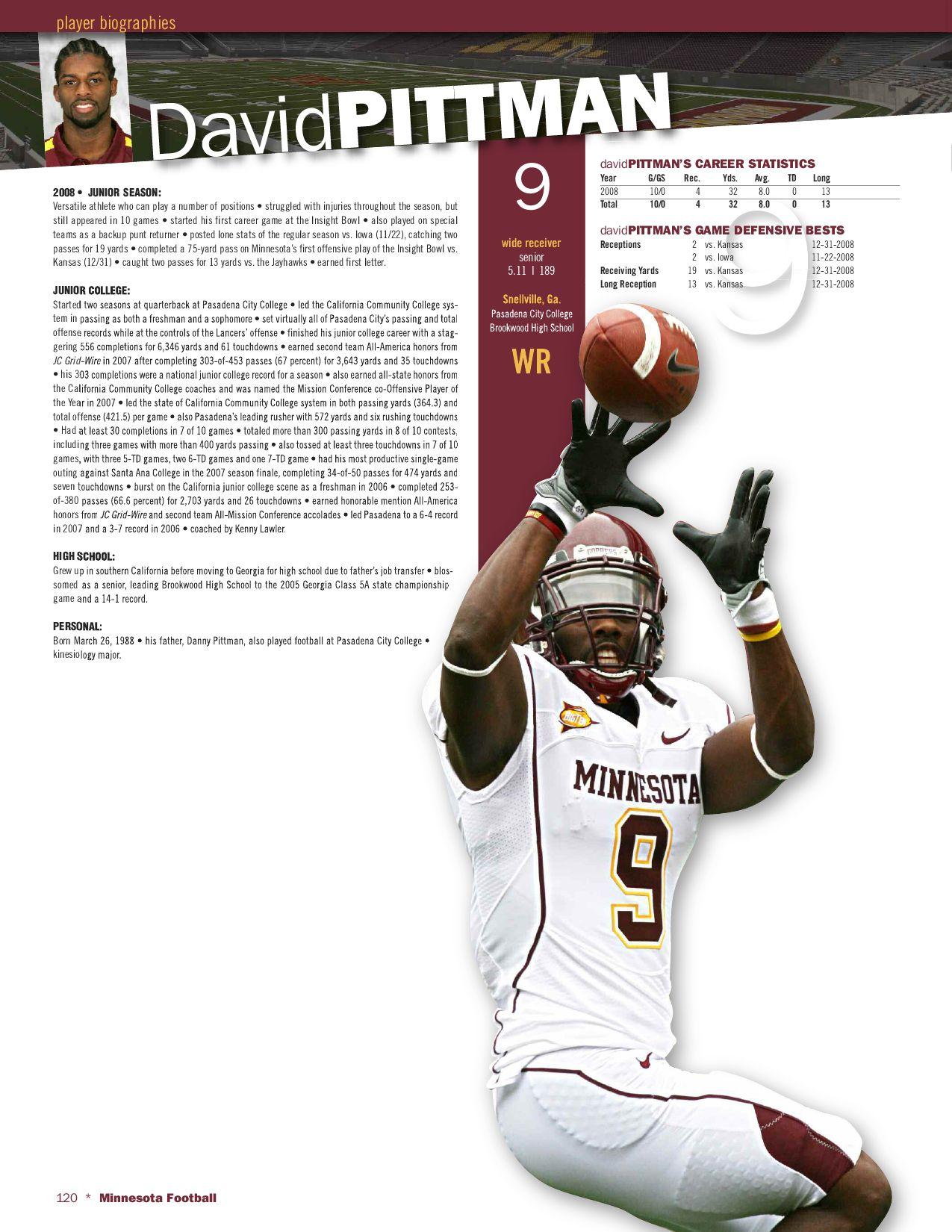 2009 Minnesota Football Recruiting Guide by University of