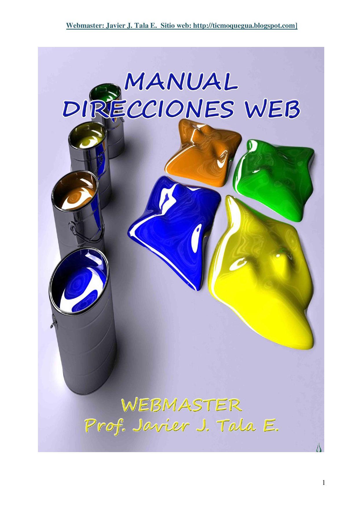 Manual direcciones web educativas by Javier Tala - issuu