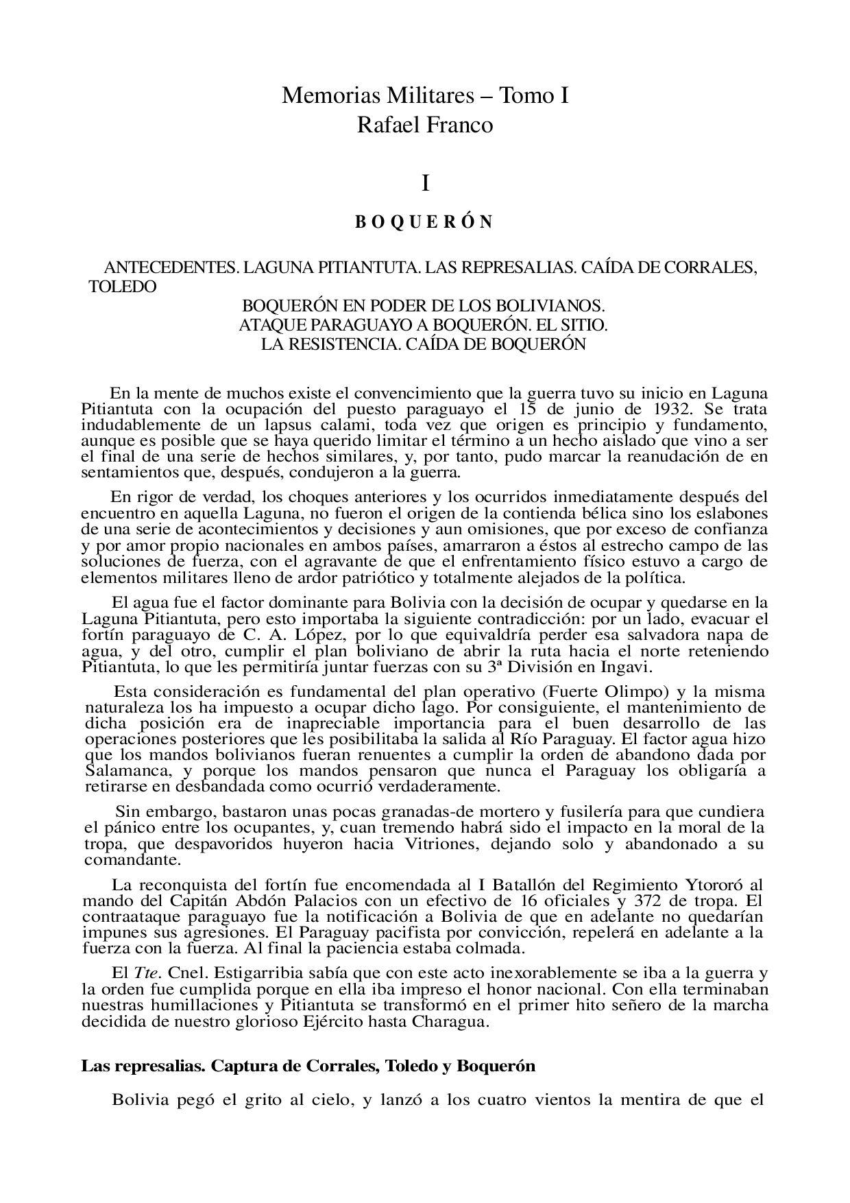 Batalla de Boquerón - Rafael Franco by Ugo Oddone - issuu