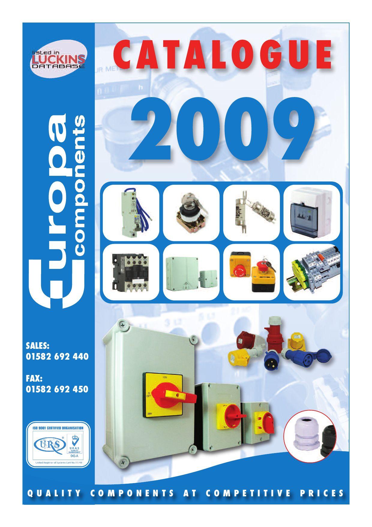 Europa Components TC1-D25004P7 Contactor 25A 11KW 4-pole 230V