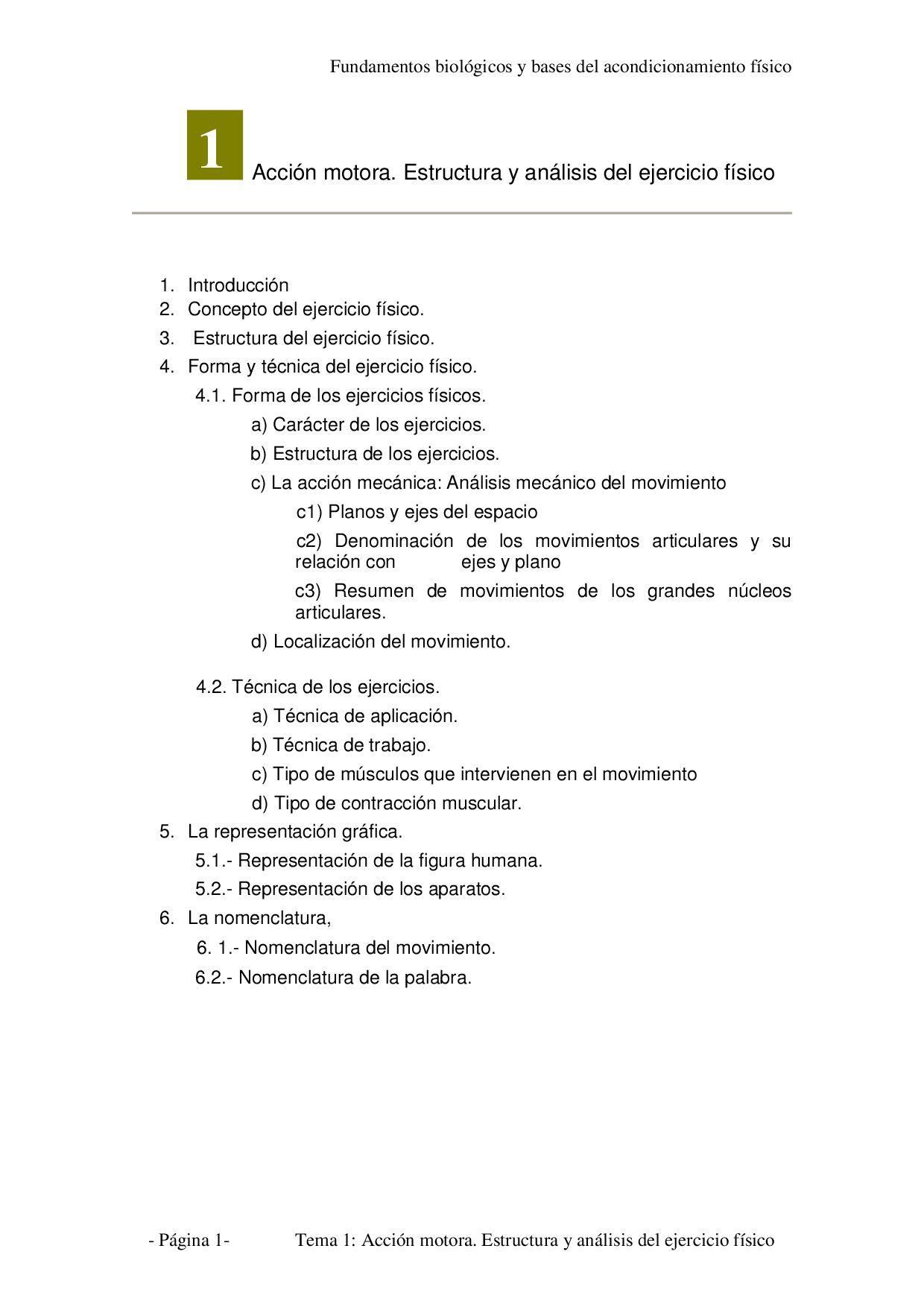 Tema 1 - Análisis de la acción motora by Marcos González Pérez - issuu