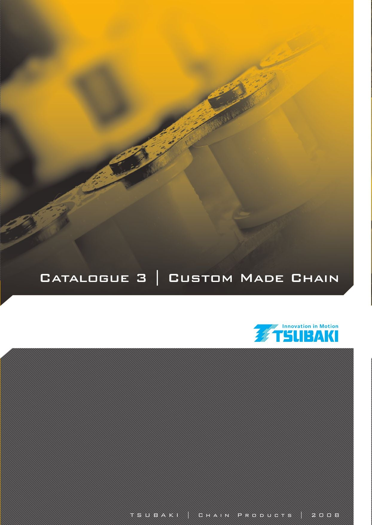 Tsubaki Large Size Conveyor Chain Catalogue by Tsubakimoto