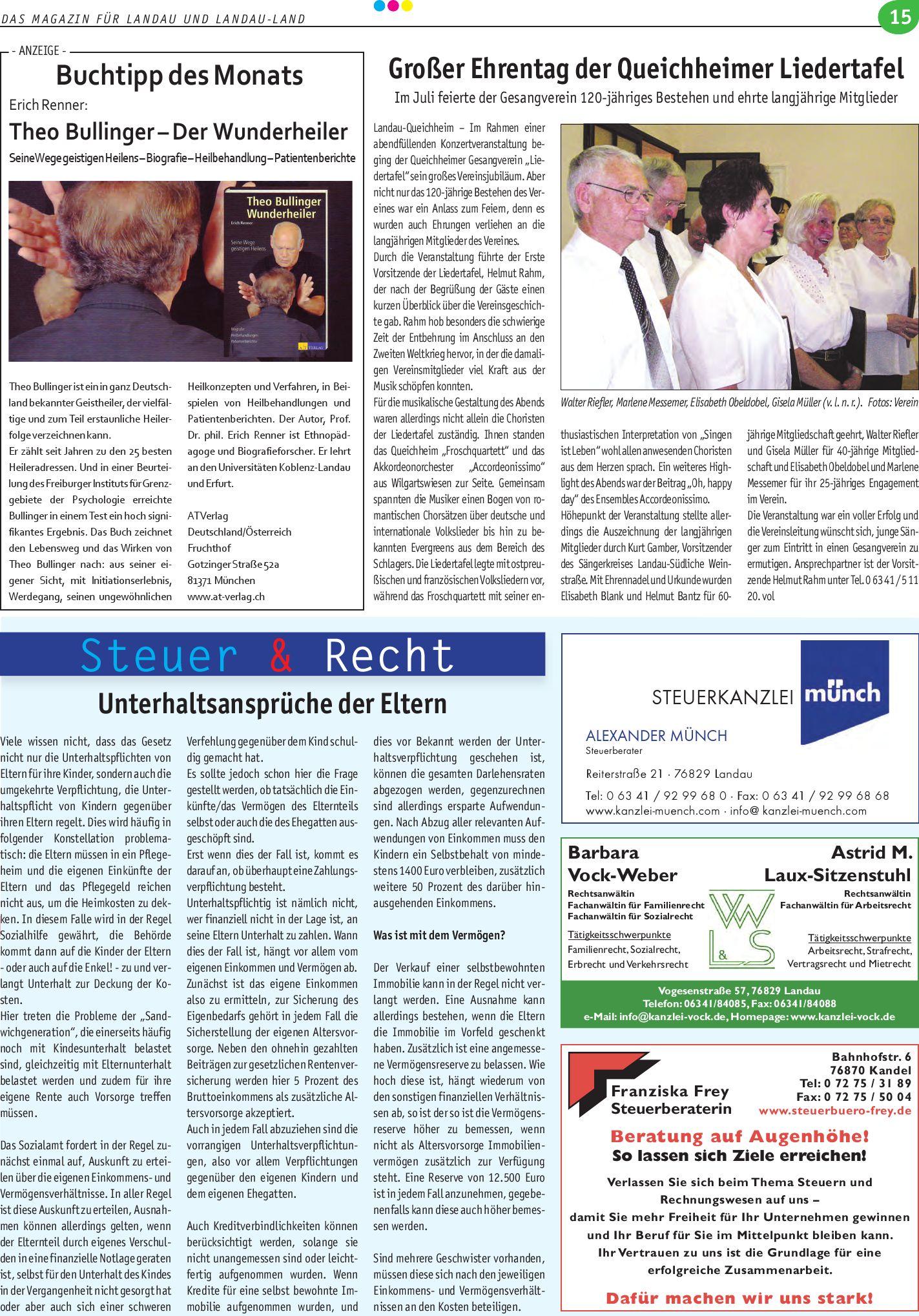 Die Lokale Ausgabe Landau 07 2009 By Sudpfalz Verlag Issuu