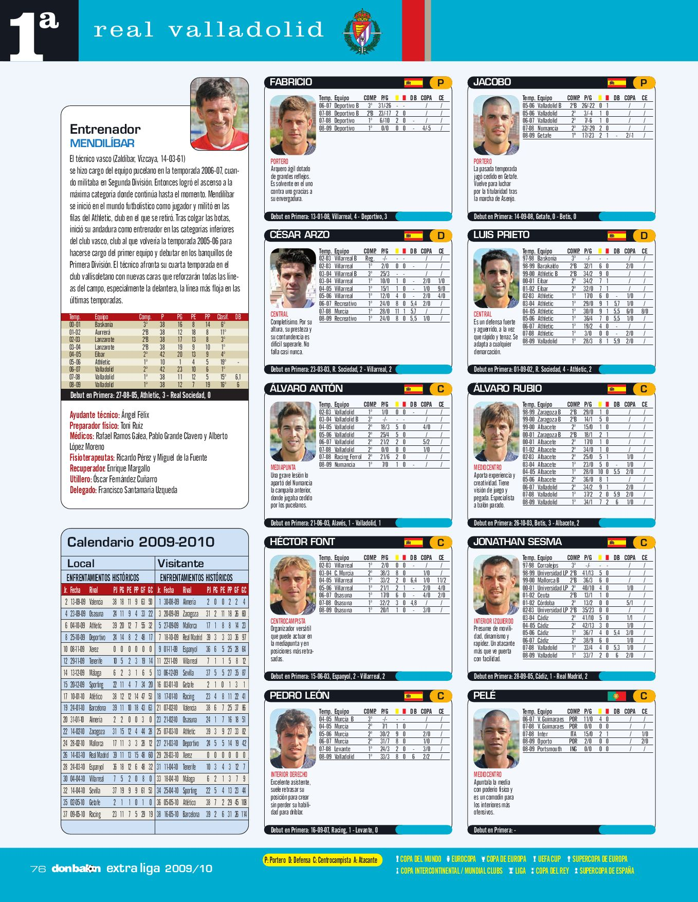 Calendario 1932 Espana.Extra Liga 2009 2010 By Cesar Sanchez Issuu