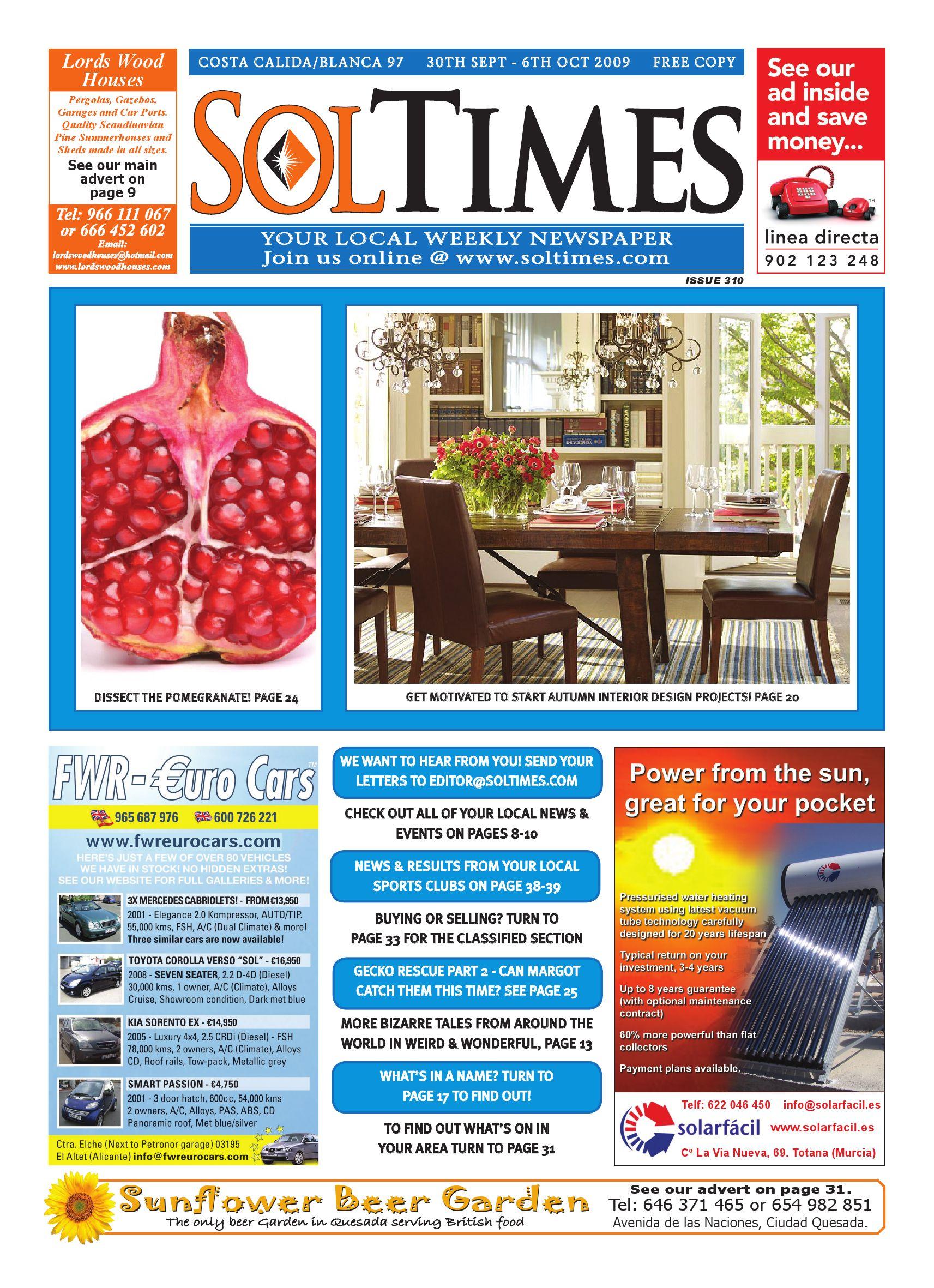 Sol Times Issue 97 Costa Calida Blanca Edition by nigel judson issuu