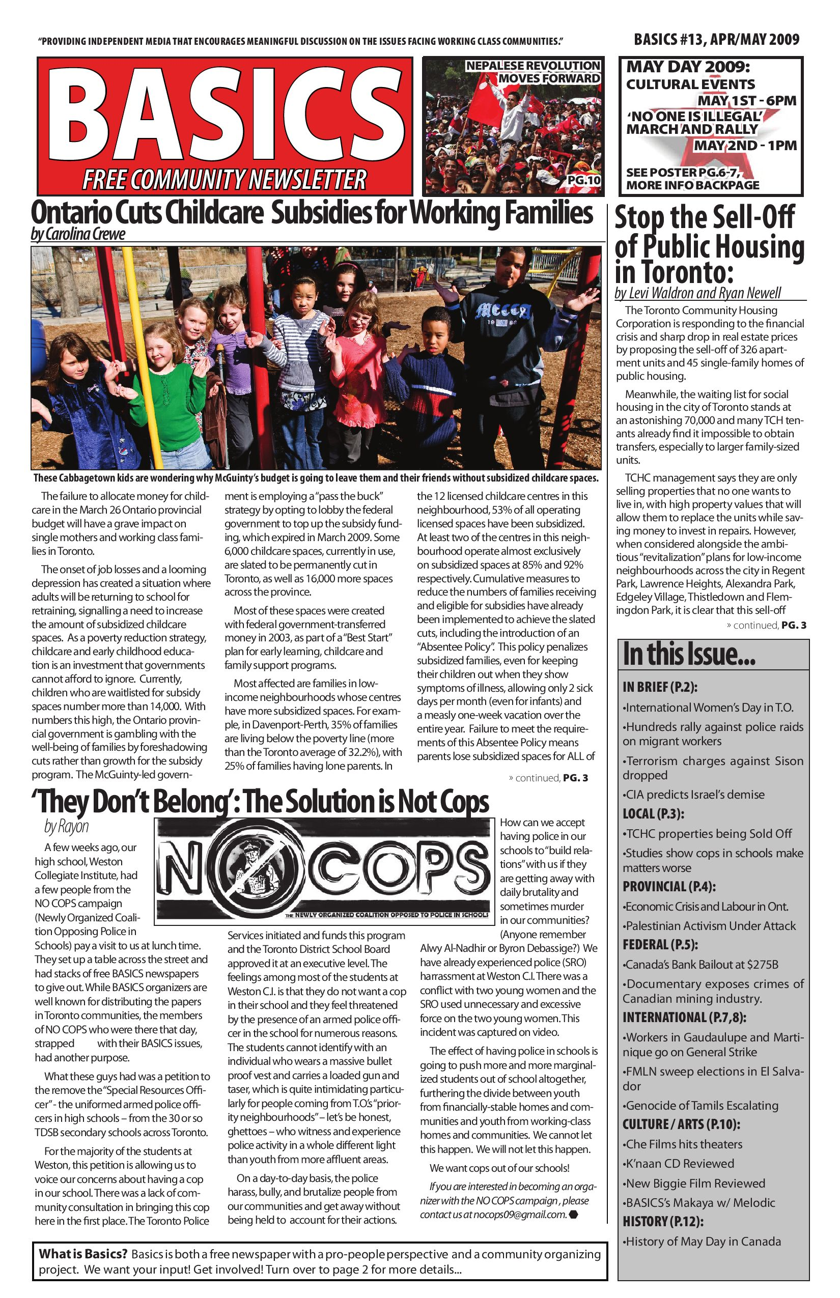 Basics Newsletter #13 by BASICS Community News Service - issuu