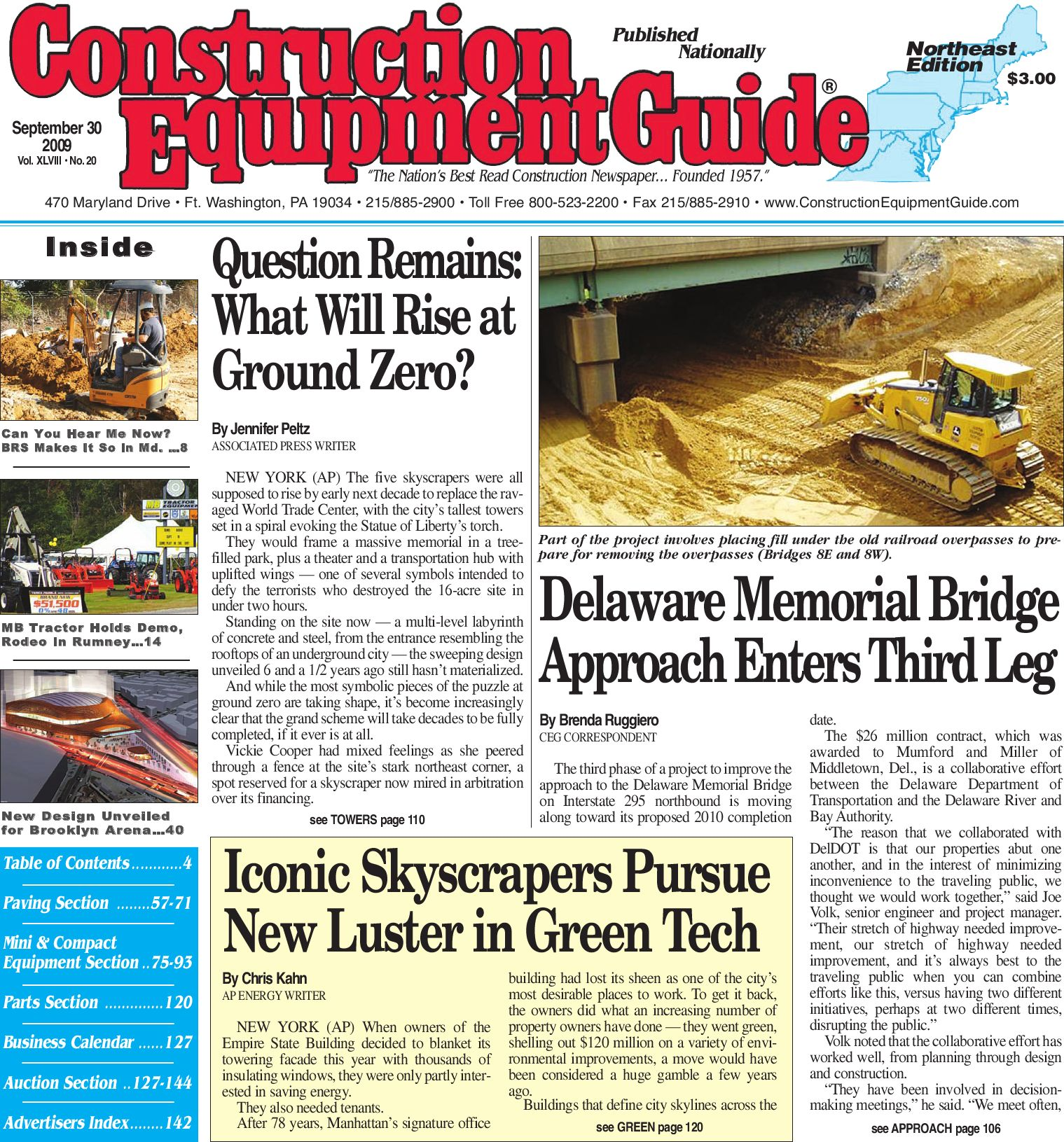 Northeast 20 2009 - CEG by Construction Equipment Guide - issuu