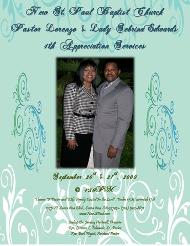 Pastor And Wife 4th Appreciation Service By New St Paul Baptist