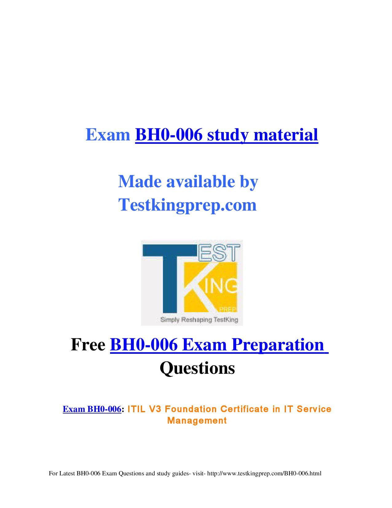 Exam Bh0 006 Preparation Questions By Stuart Broad Issuu
