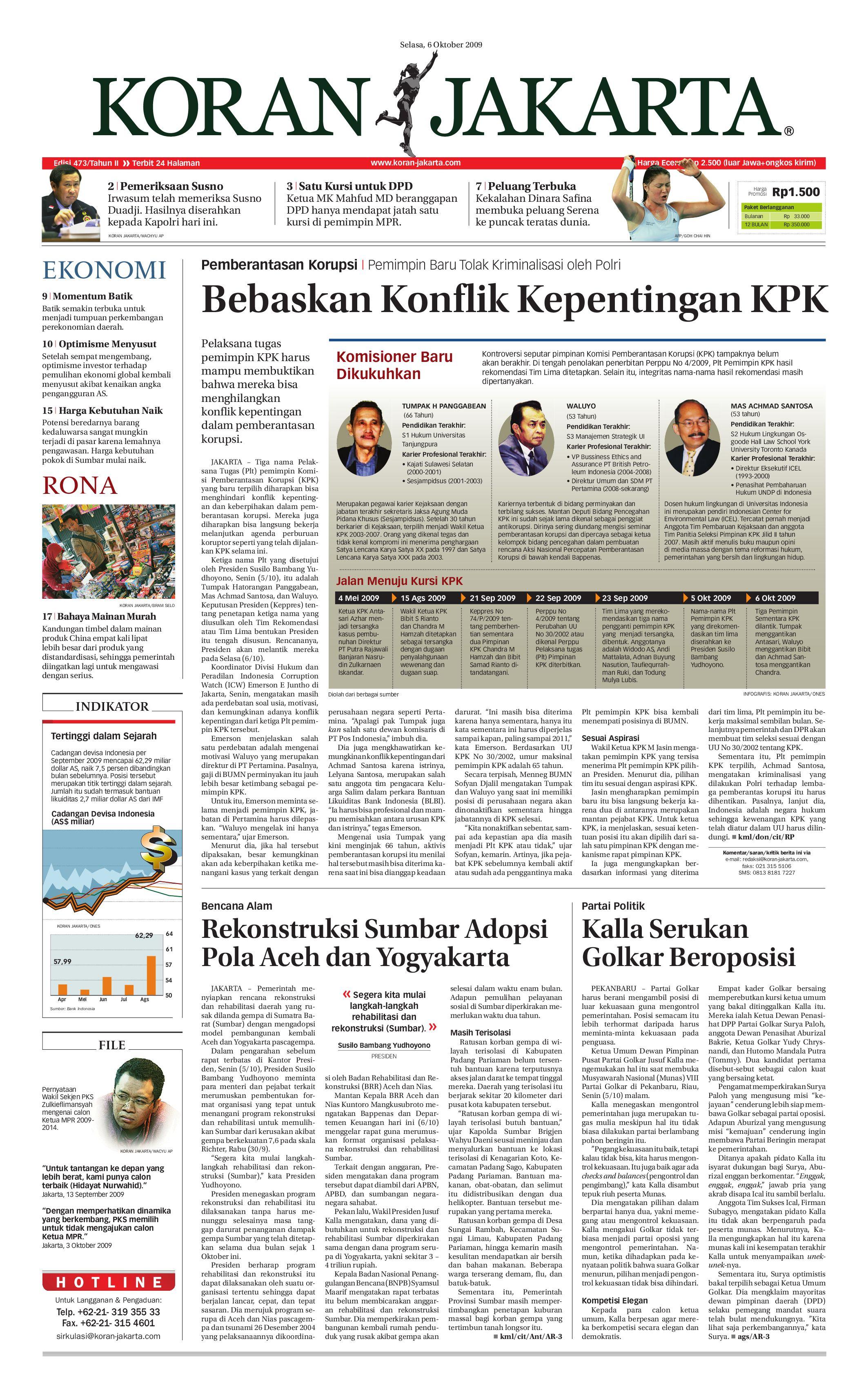 Edisi 473 06 Oktober 2009 By Pt Berita Nusantara Issuu Produk Ukm Bumn Bunge Tanjung Betabur