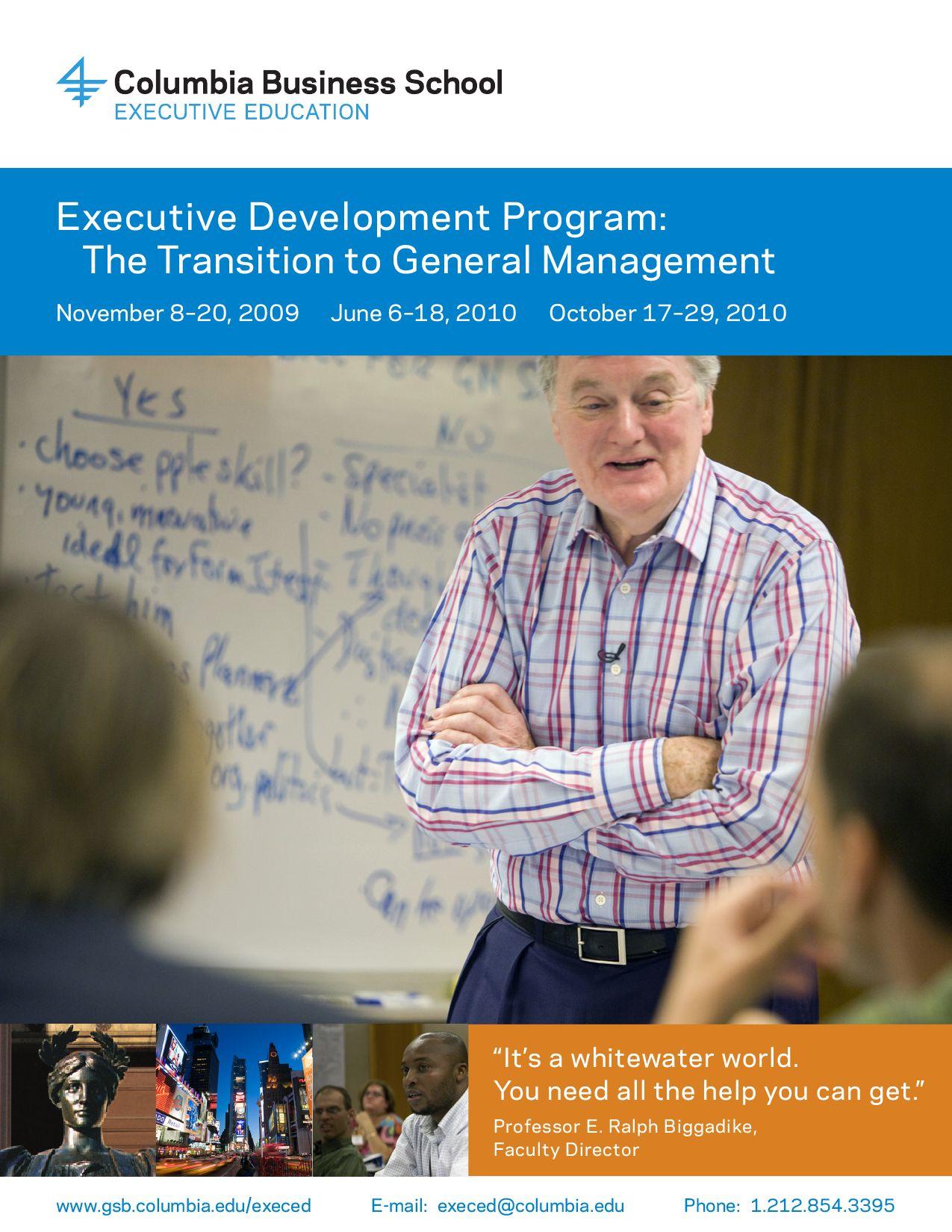 Executive Development Program: Transition to General