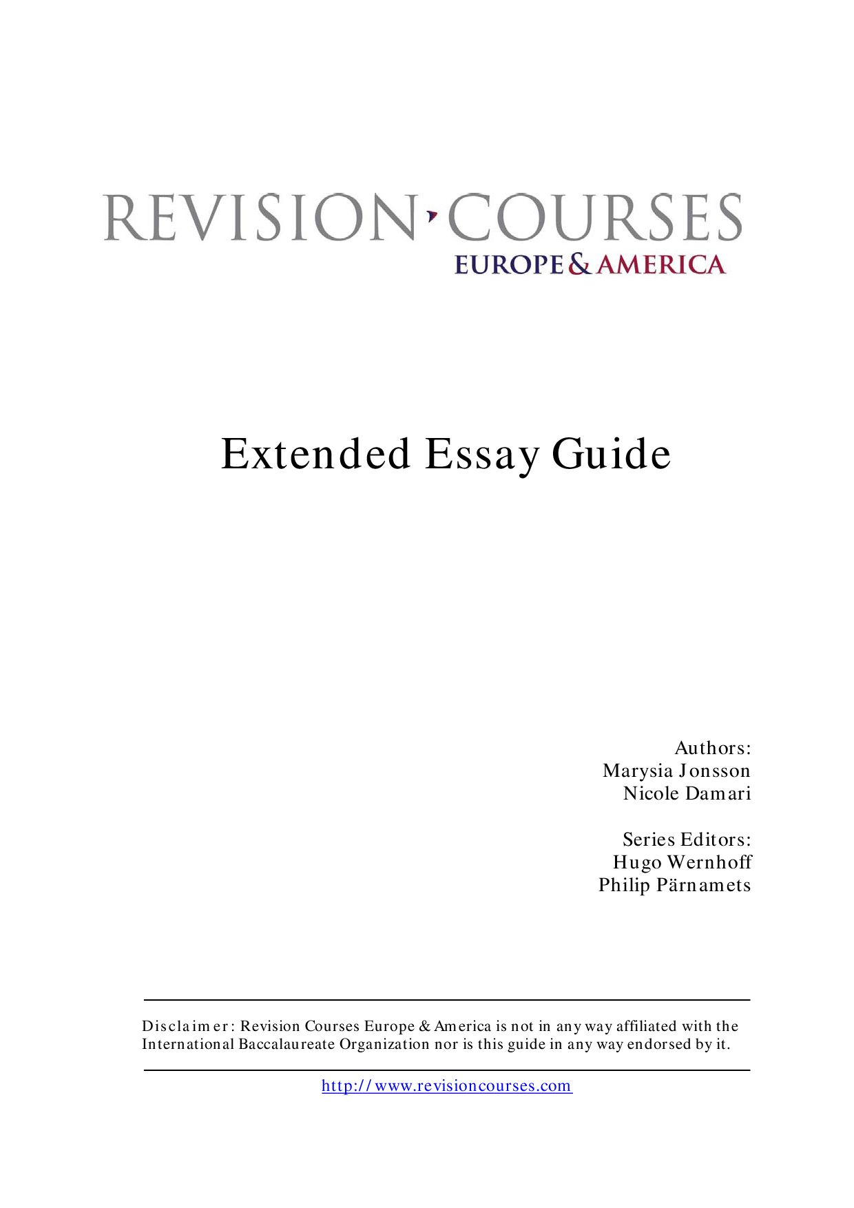 Extended essay guide