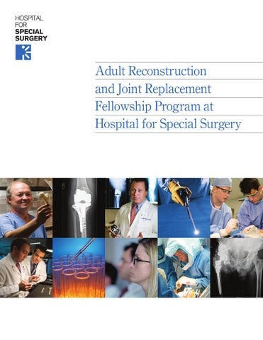 ARJR Fellowship by Hospital for Special Surgery - issuu