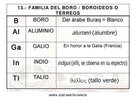 Tabla peridica by kulklas maria issuu familia del boro boroideos o trreos urtaz Image collections