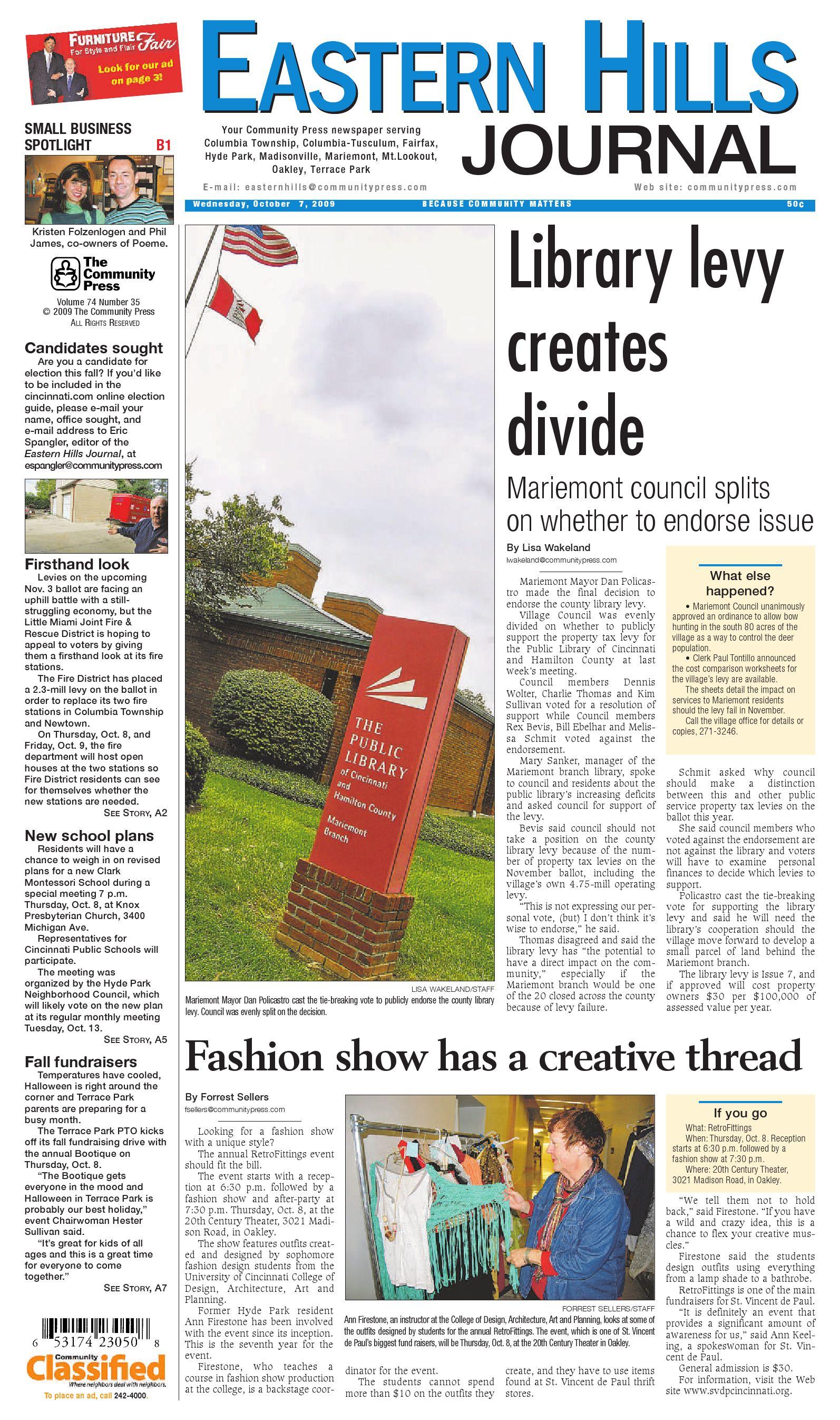 6c67ba40bff Eastern Hills Journal 100709 by Enquirer Media - issuu