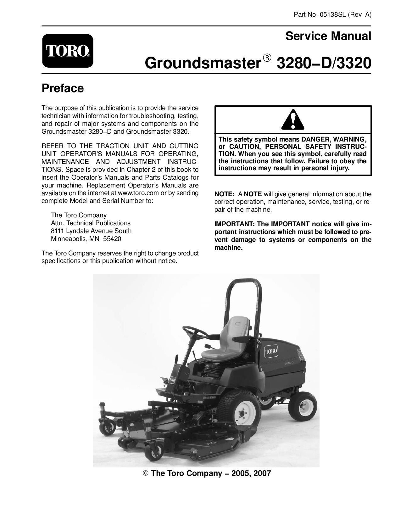 05138sl pdf Groundsmaster 3280-D/3320 (Rev A) Dec, 2007 by negimachi