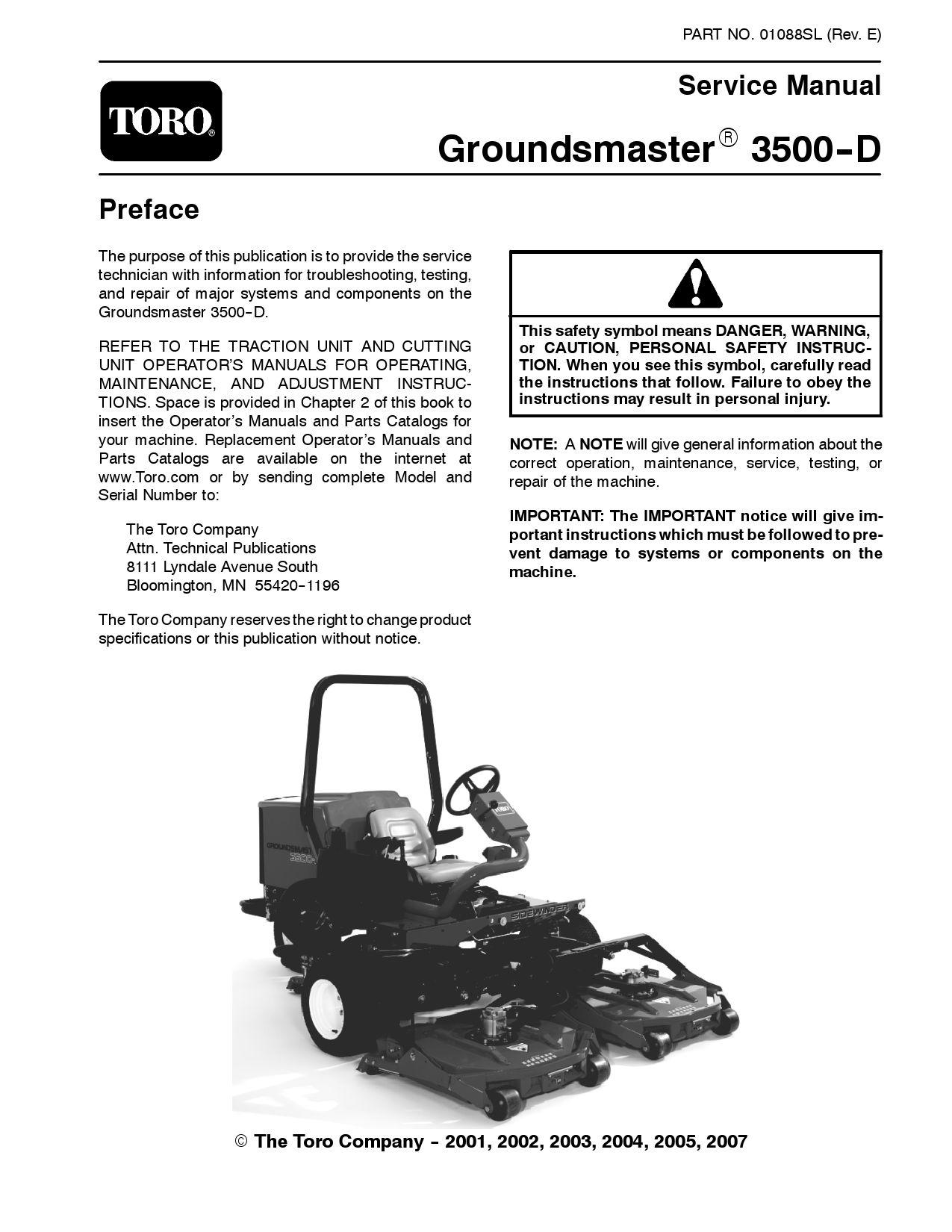 01088sl.pdf Groundsmaster 3500-D (Rev E) Dec, 2007 by negimachi negimachi -  issuu