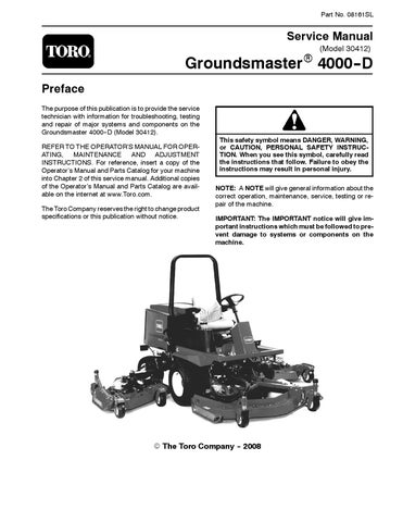 page_1_thumb_large 90743sl pdf groundsmaster 580 d (rev g) dec, 2007 by negimachi toro 580d wiring diagram at crackthecode.co