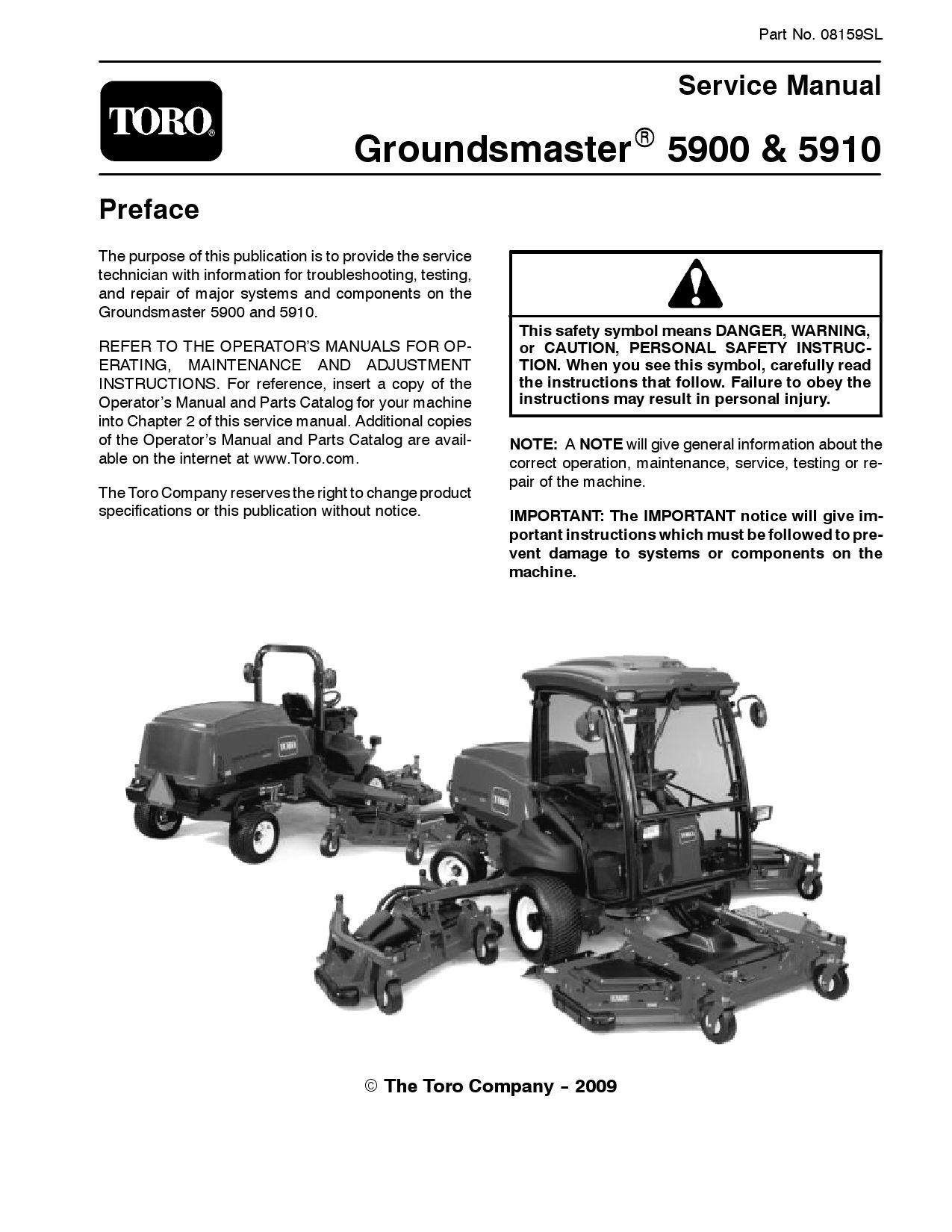 08159sl pdf Groundsmaster 5900/5910 Jan, 2009 NEW by