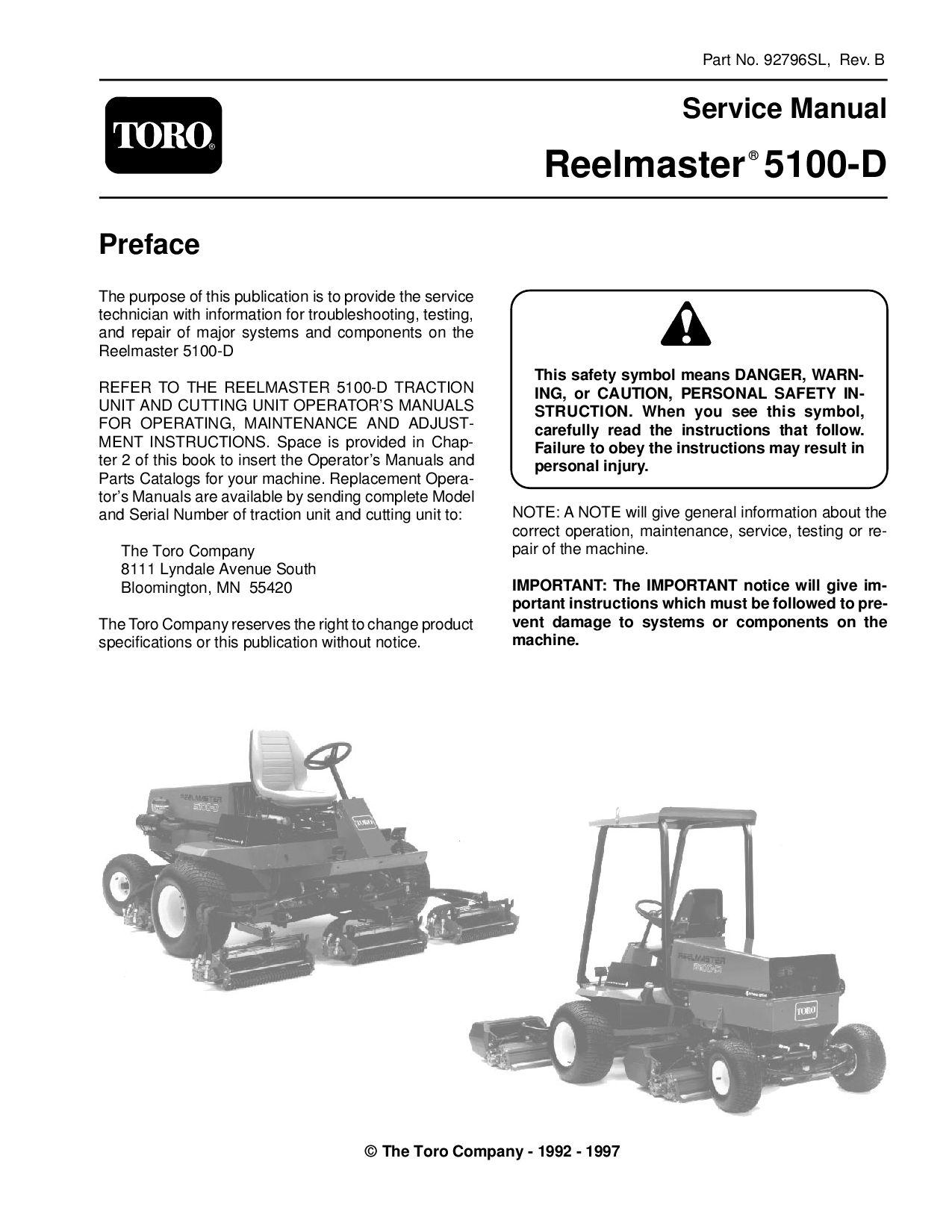 92796sl.pdf Reelmaster 5100-D (Rev B) 1997 by negimachi negimachi - issuu