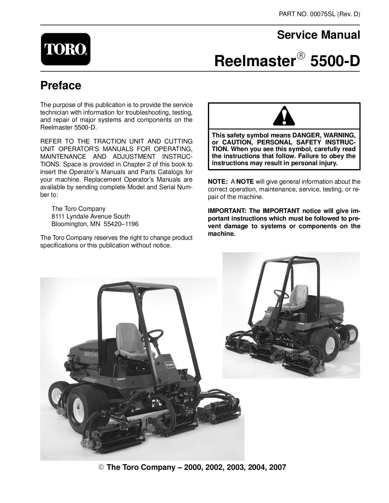 00075sl.pdf Reelmaster 5500-D (Rev D) Dec, 2007 by negimachi negimachi -  issuu
