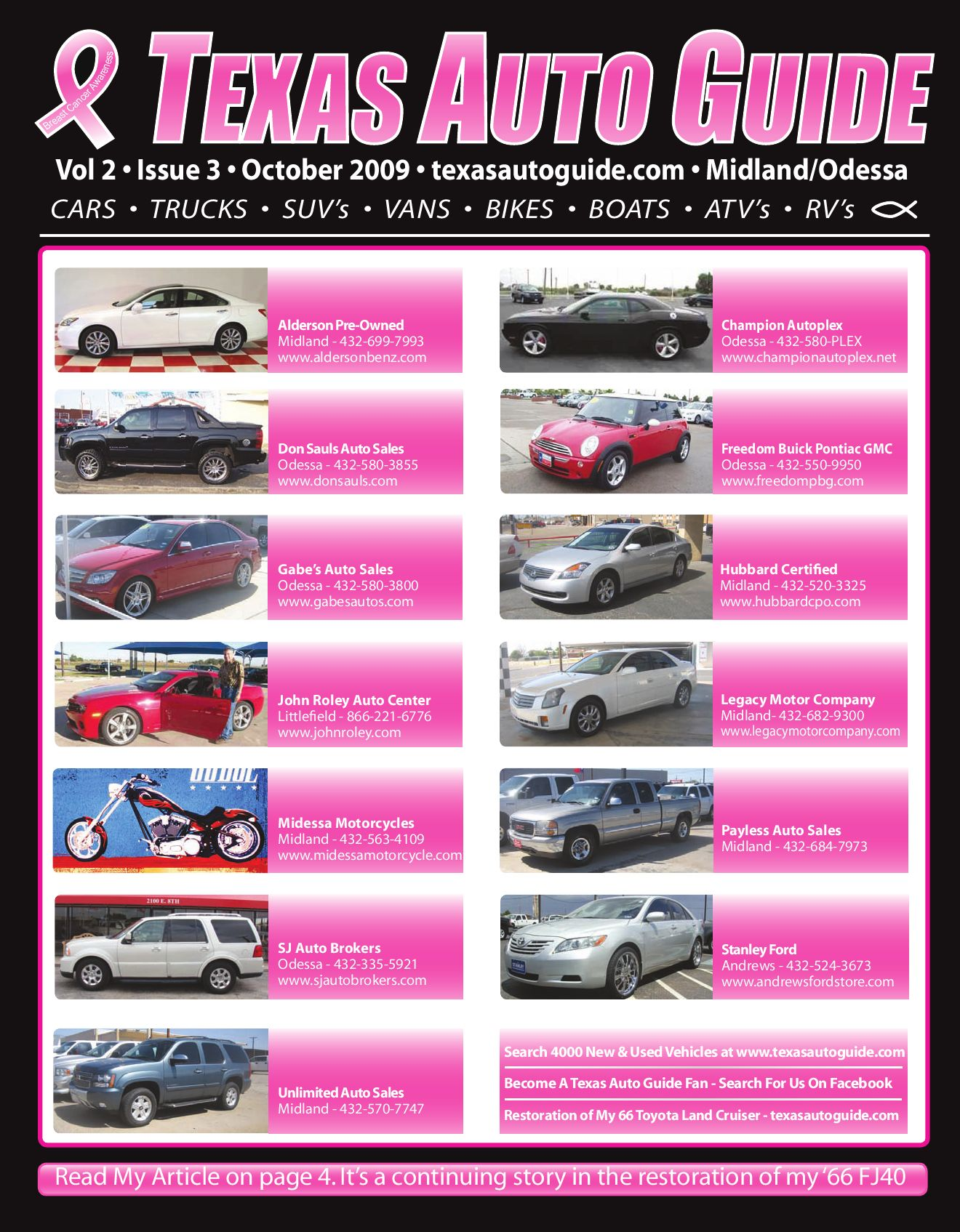 Hubbard Auto Center >> October Issue Texas Auto Guide Midland Odessa By Texas Auto