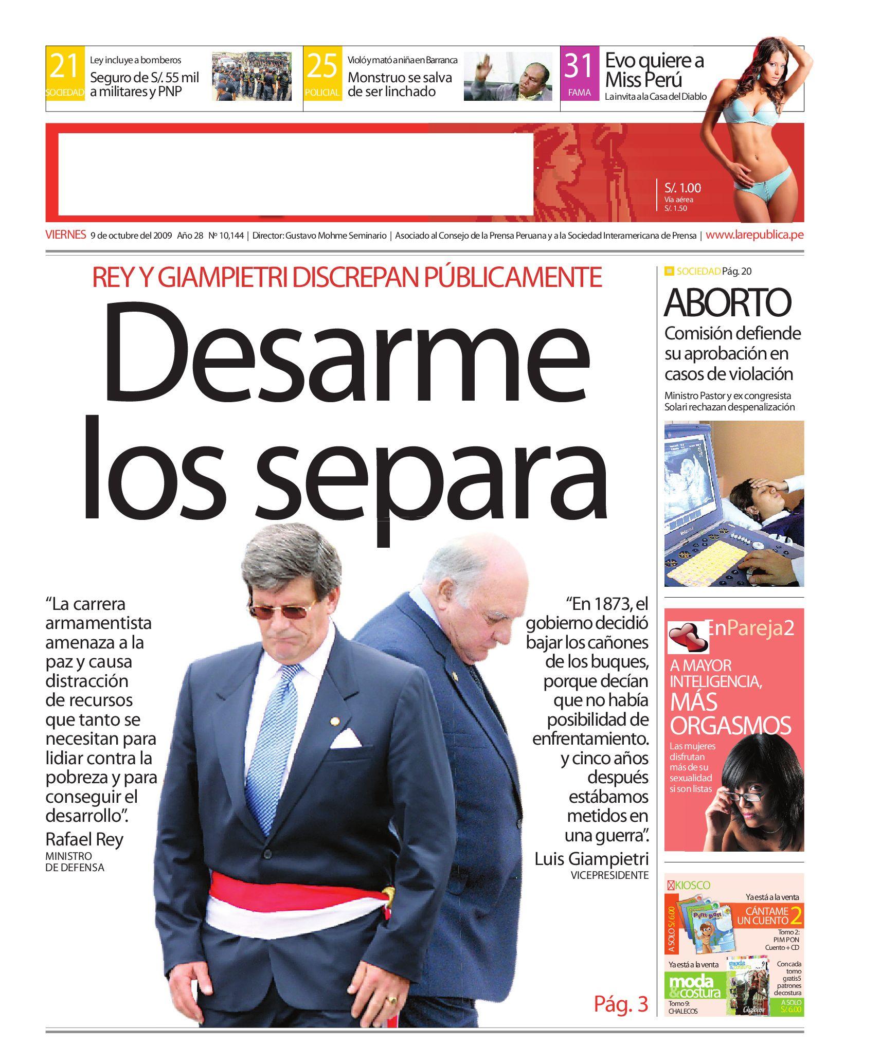 Edición La República 09102009 by Grupo La República Publicaciones ...