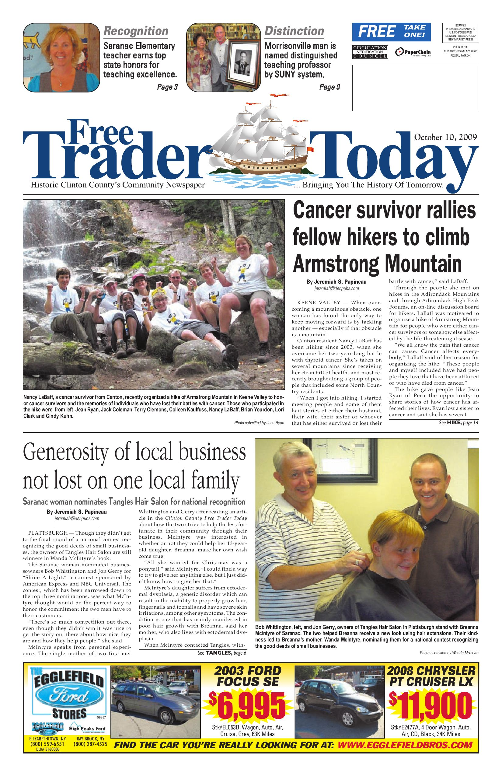 Clinton Co FreeTrader Today 10-10-09 by Sun Community News