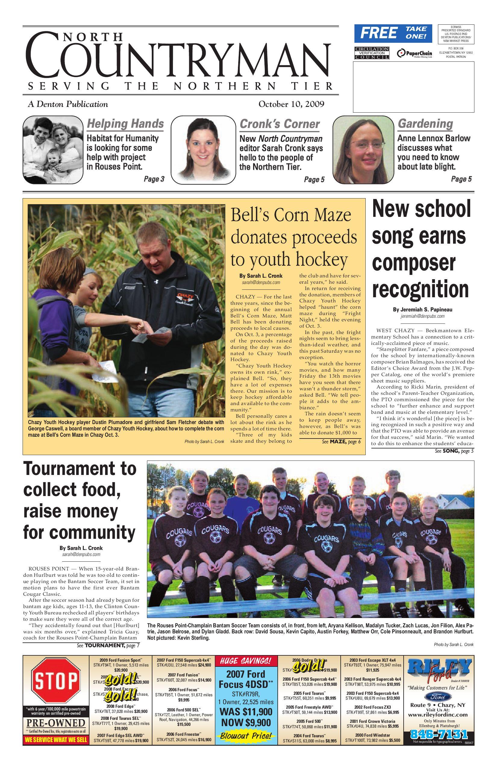North Countryman 10 10 09 by Sun munity News and Printing issuu