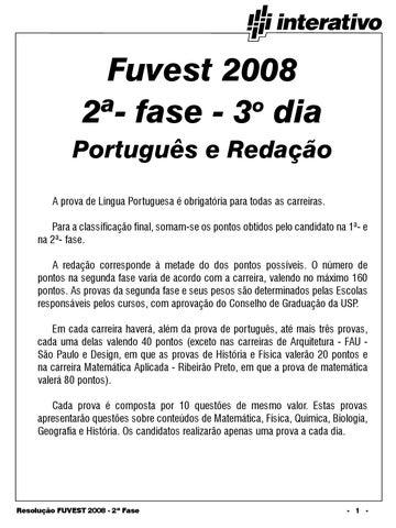 FUVEST-LISTA DA 2° FASE by Fato Expresso - issuu 9d307a0fd7