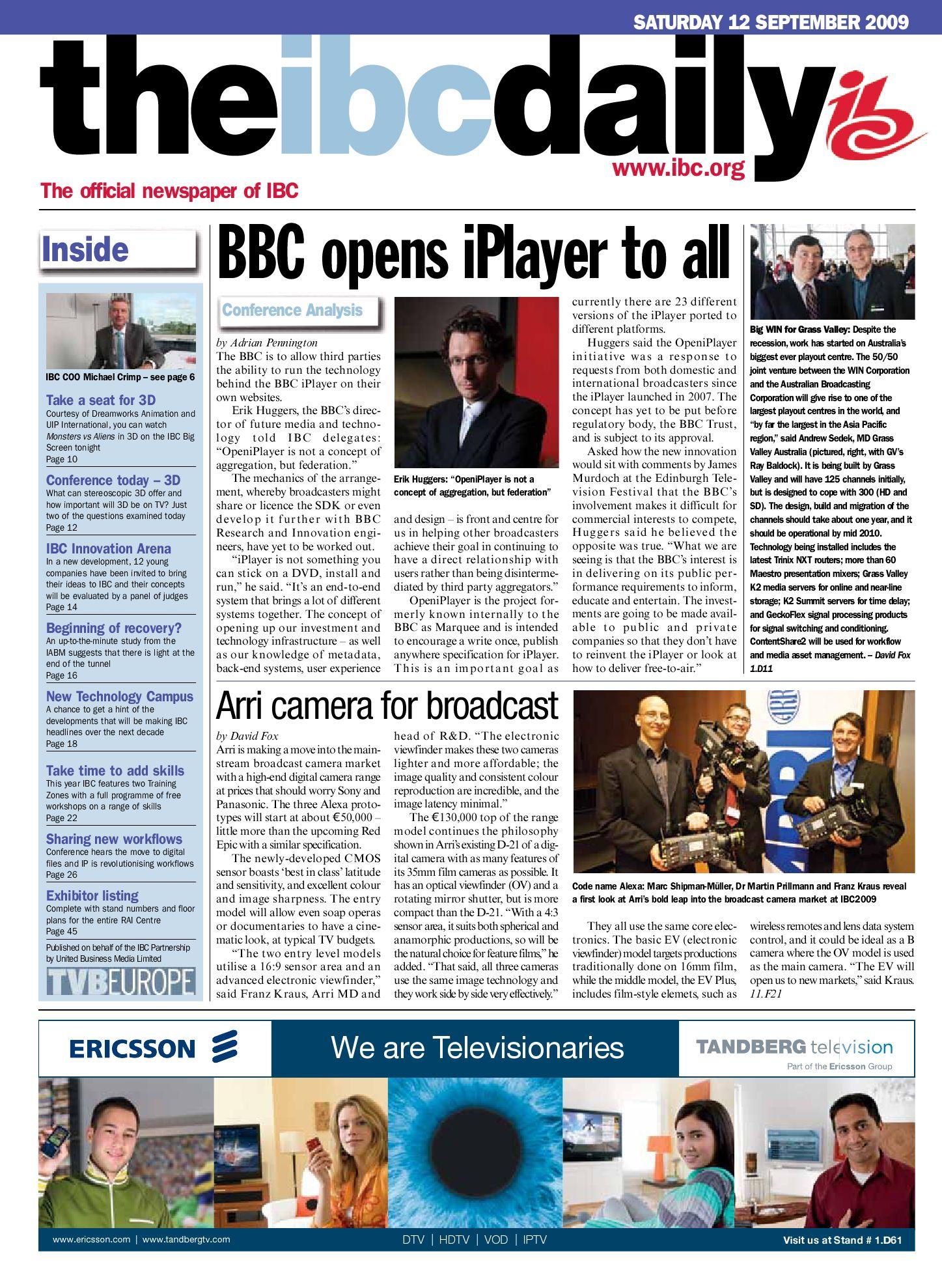 IBC Daily 2009 D2 by Simon Croft - issuu