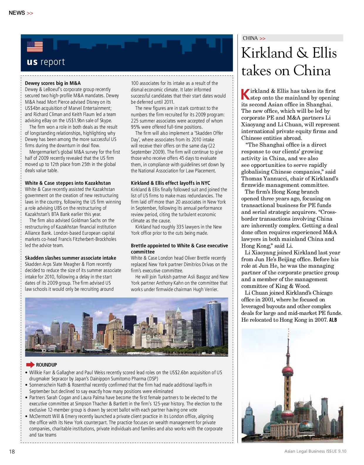Asian Legal Business (North Asia) Oct 2009