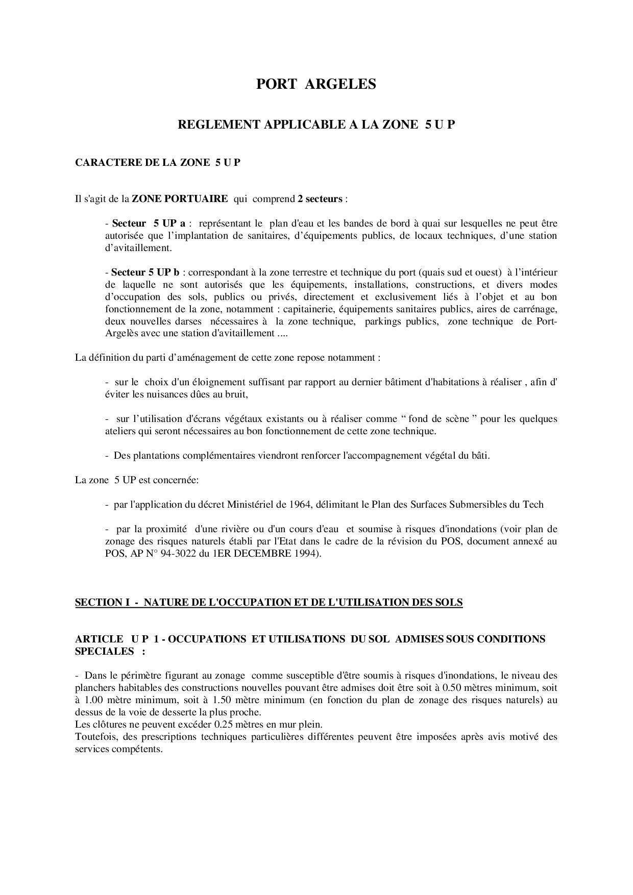 R glement du pos zone 5 up by argel s sur mer issuu for Definition du reglement interieur