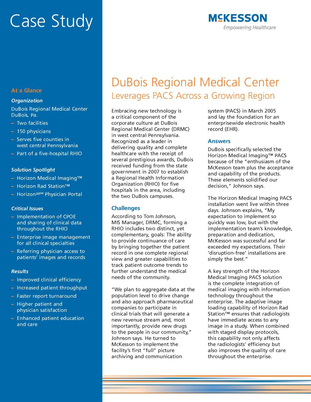 case study of glengarry regional medical