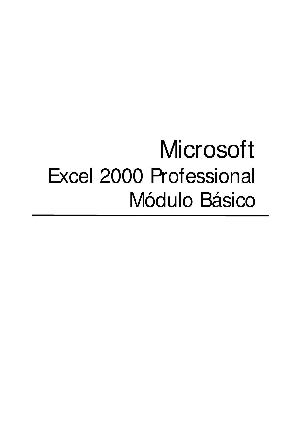 Manual Excel 2000 by Fernando Caballero - issuu