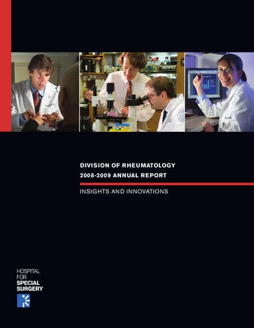 2008-2009 HSS Rheumatology Division Annual Report by