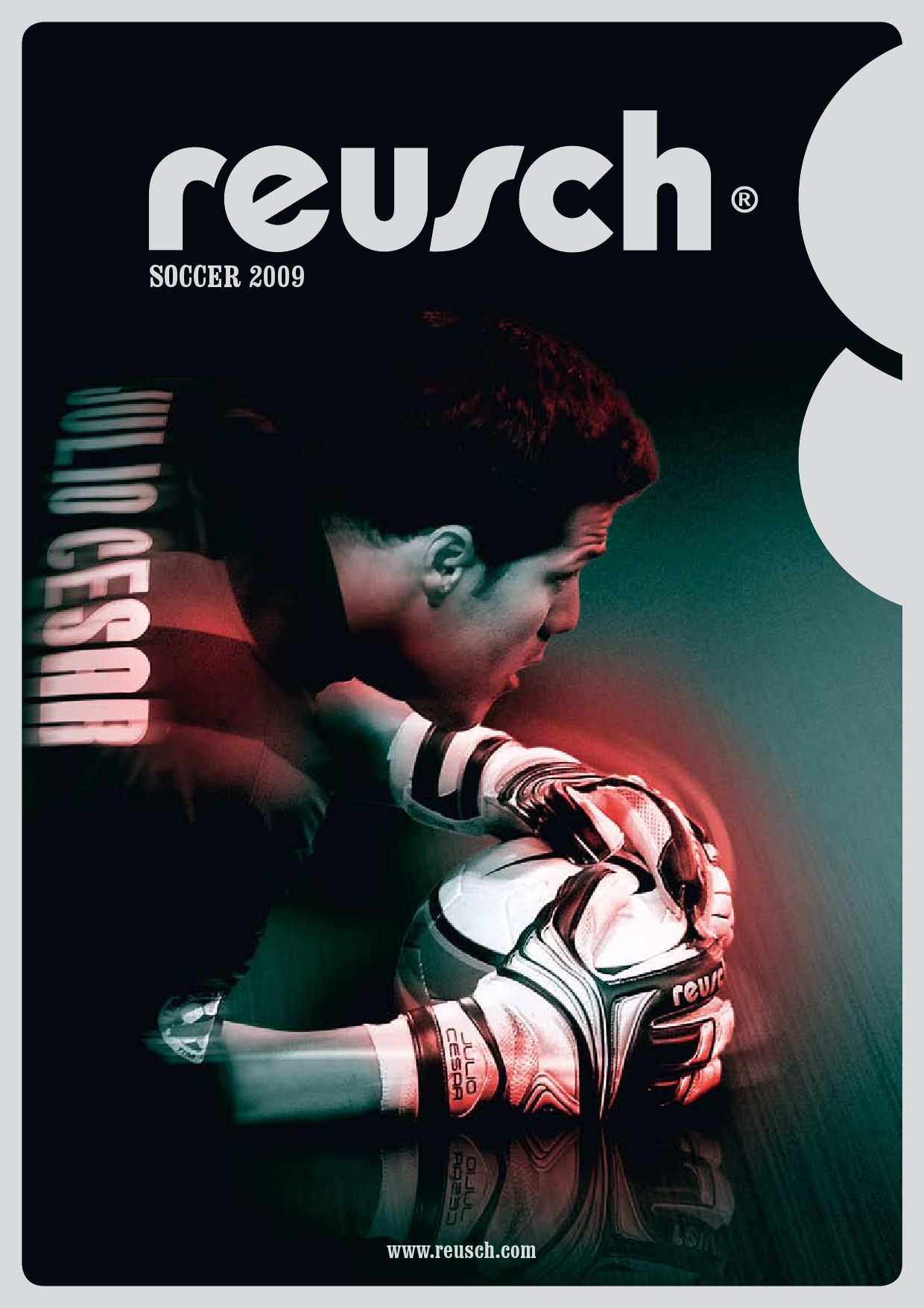 19 x 13 Reusch Soccer Adults Multi Compartment Goalkeeper Glove Bag Black