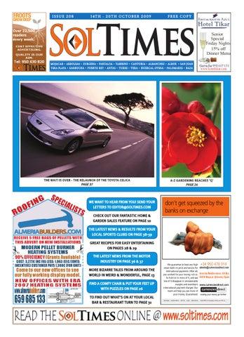 Sol Times Issue 208 Almeria Edition by nigel judson - issuu 4f2fd8fcf3
