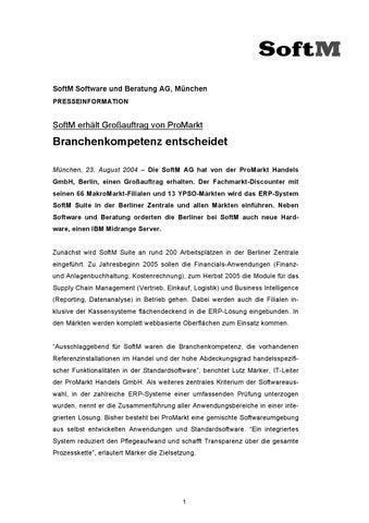 9ac9cafde58598 http   www.pressebox.de attachment 1282 18 SoftM Presseinfo Promarkt ...