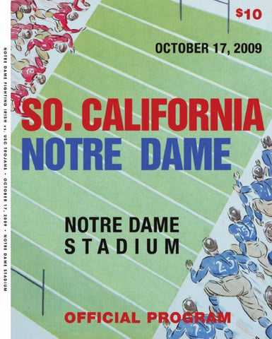 aef6930010f45 2009 Notre Dame Football Game Program - USC by Chris Masters - issuu