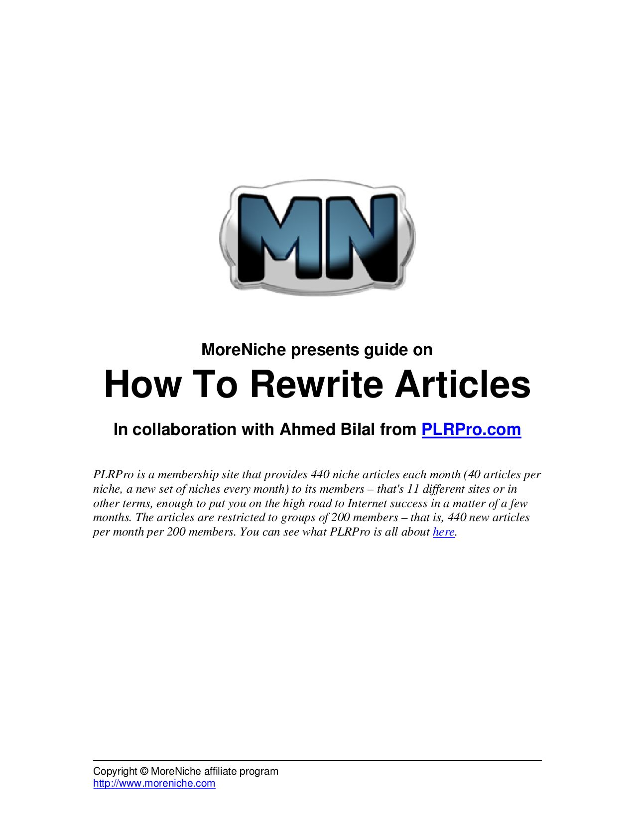 Affiliate Marketing Guides 1.5 How to Rewrite Articles by Andrei ...