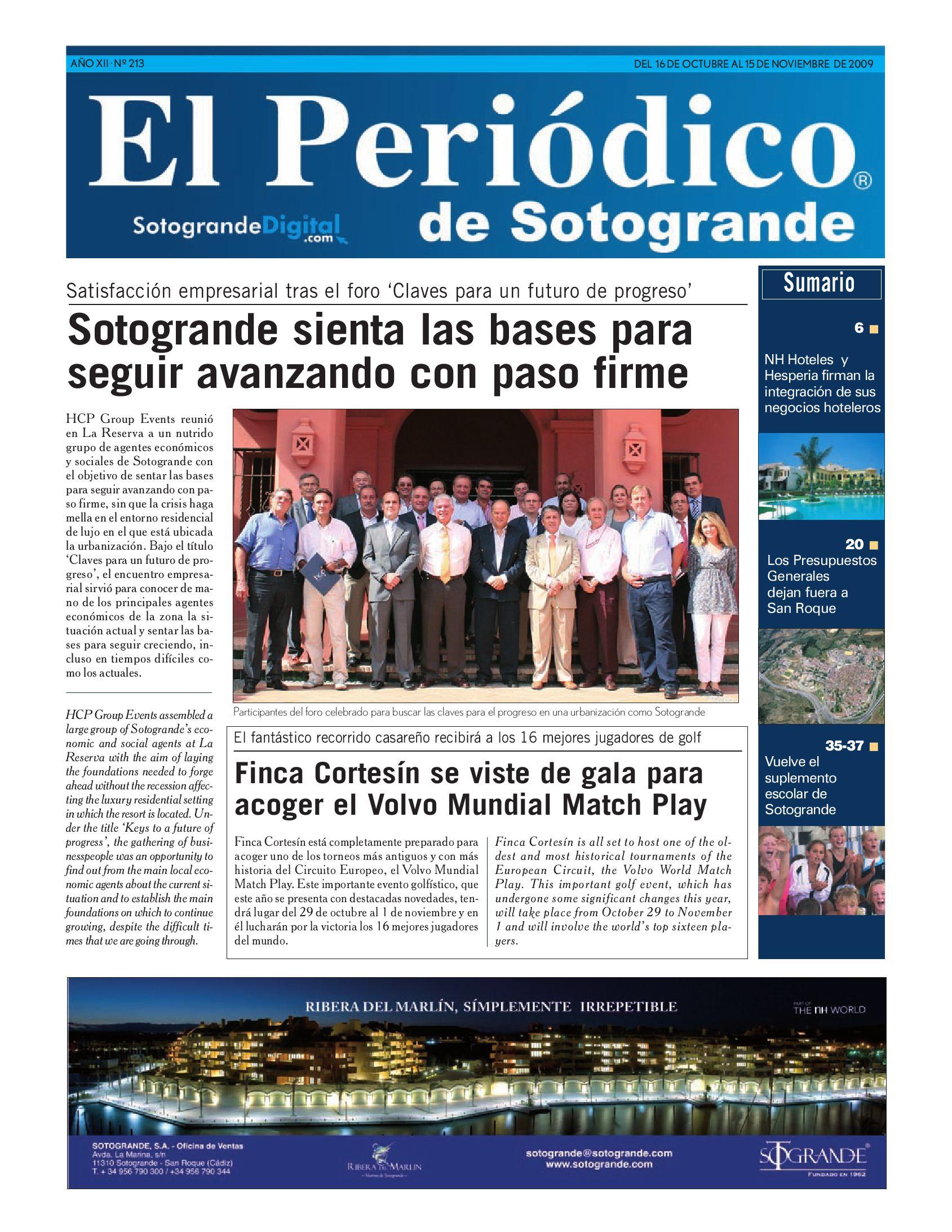 El Periódico de Sotogrande 213 by HCP GROUP SOTOGRANDE - issuu 09fe2f5e5bbc
