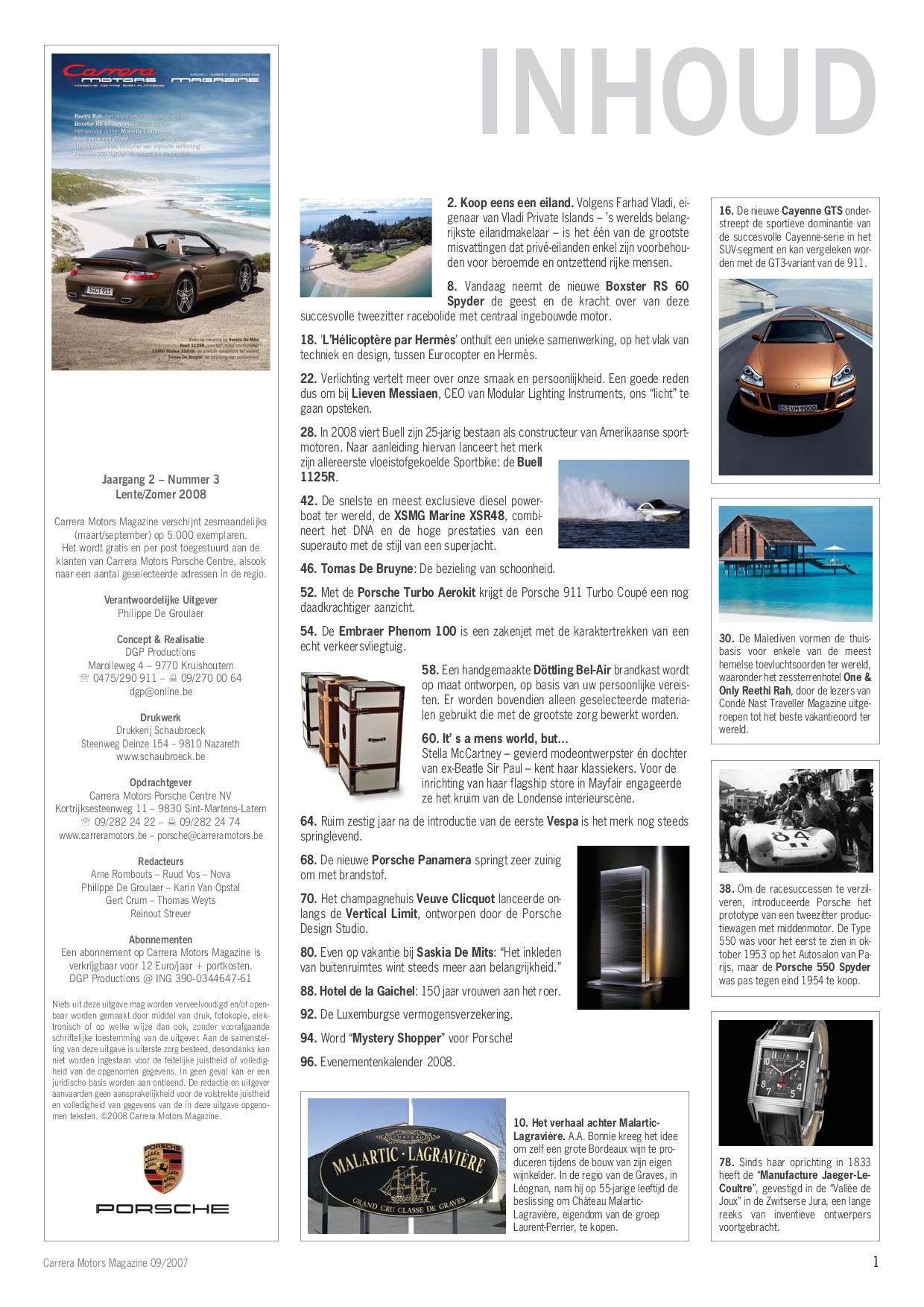 Carrera Motors Porsche Magazine By Cbm Issuu