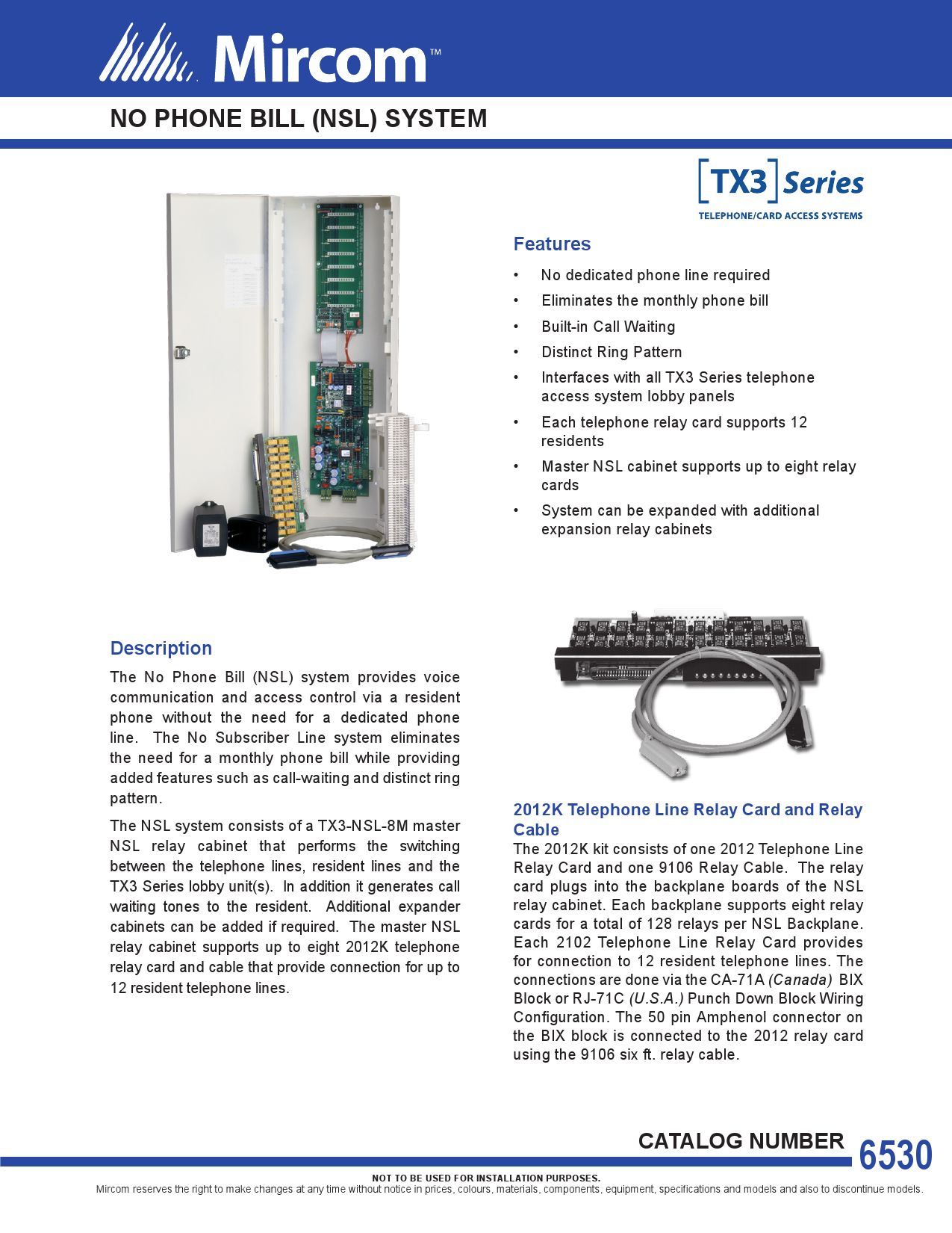 CAT-6530_TX3_NSL_Accessories by Mircom Group of Companies